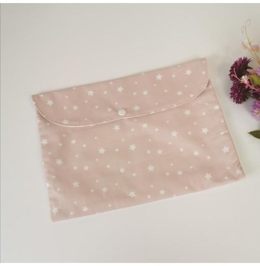 1 unidad Sobre Muda Colección Estrellas  Rosa Pastel